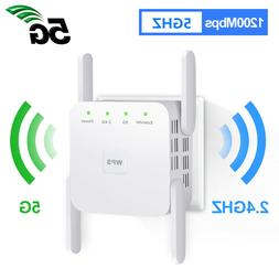 1200Mbps Wifi Repeater Wireless-AC Range Extender Signal Boo