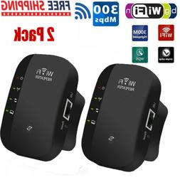 2Pack 300Mbps Wifi Signal Range Amplifier Repeater Wireless