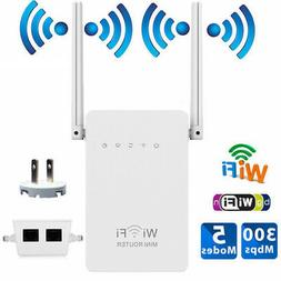 300Mbps Wireless-N Range Extender WiFi Repeater Signal Boost