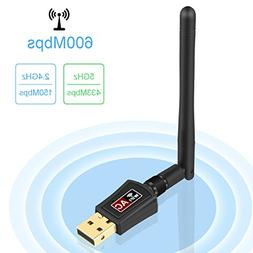 Zoweetek 600Mbps mini 802.11ac Dual Band 2.4G/5G Wireless Ne