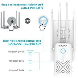 AC1200 High Power Dual Band WiFi Range Extender, WAVLINK Wir