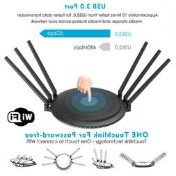Wavlink AC2100 WiFi Router,Dual-Band MU-MIMO 4 Gigabit Wirel