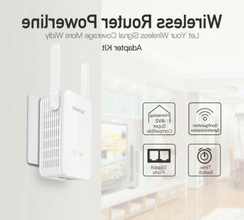 1 Pair of PH15 1000Mbps WIFI Ethernet Adapter
