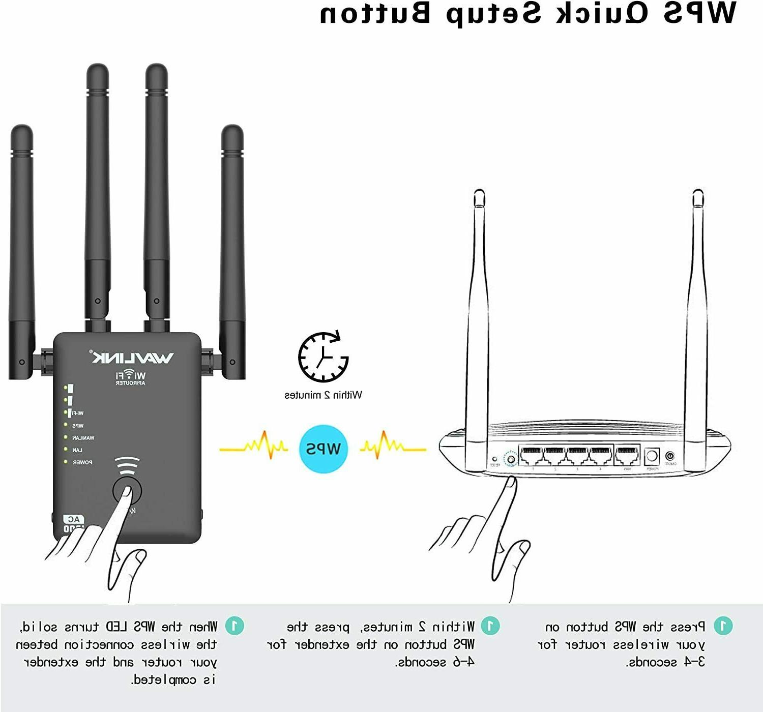 1200Mbps Range Wireless Signal 2.4 5G Dual-