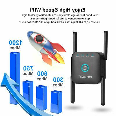 1200Mbps WiFi Extender Repeater Signal Network