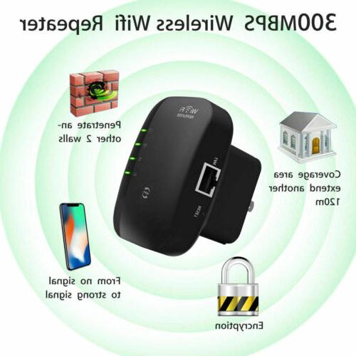 US Wifi Range Extender Repeater Wireless Amplifier 300Mbps R