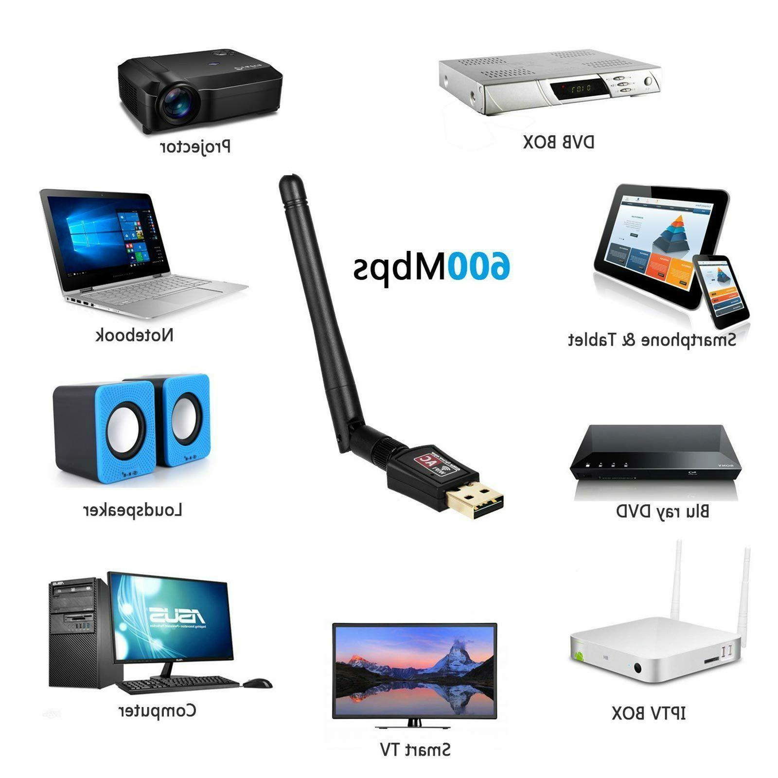 Wireless Internet Booster Wifi Adapter 600Mbps