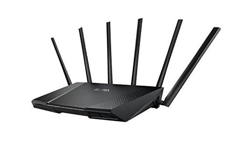 ASUS Tri-Band Gigabit WiFi Router MU-MIMO to ensure Lag-Free network by Trend Adaptive and