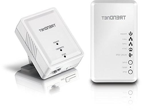 TRENDnet AV Kit with Wi-Fi Includes + 500 AV N300 Wireless N, TPL-410APK