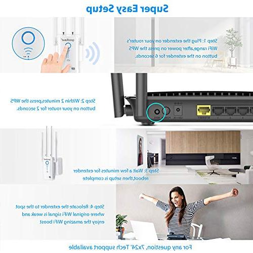 Goodland AC1200 Extender - Fast 1200Mbps Dual Wi-Fi - 4 Ideas
