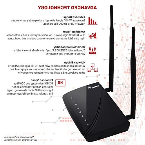 Ivation High 600mW Range Wireless Strength & of Wireless Signals Up to 10,000
