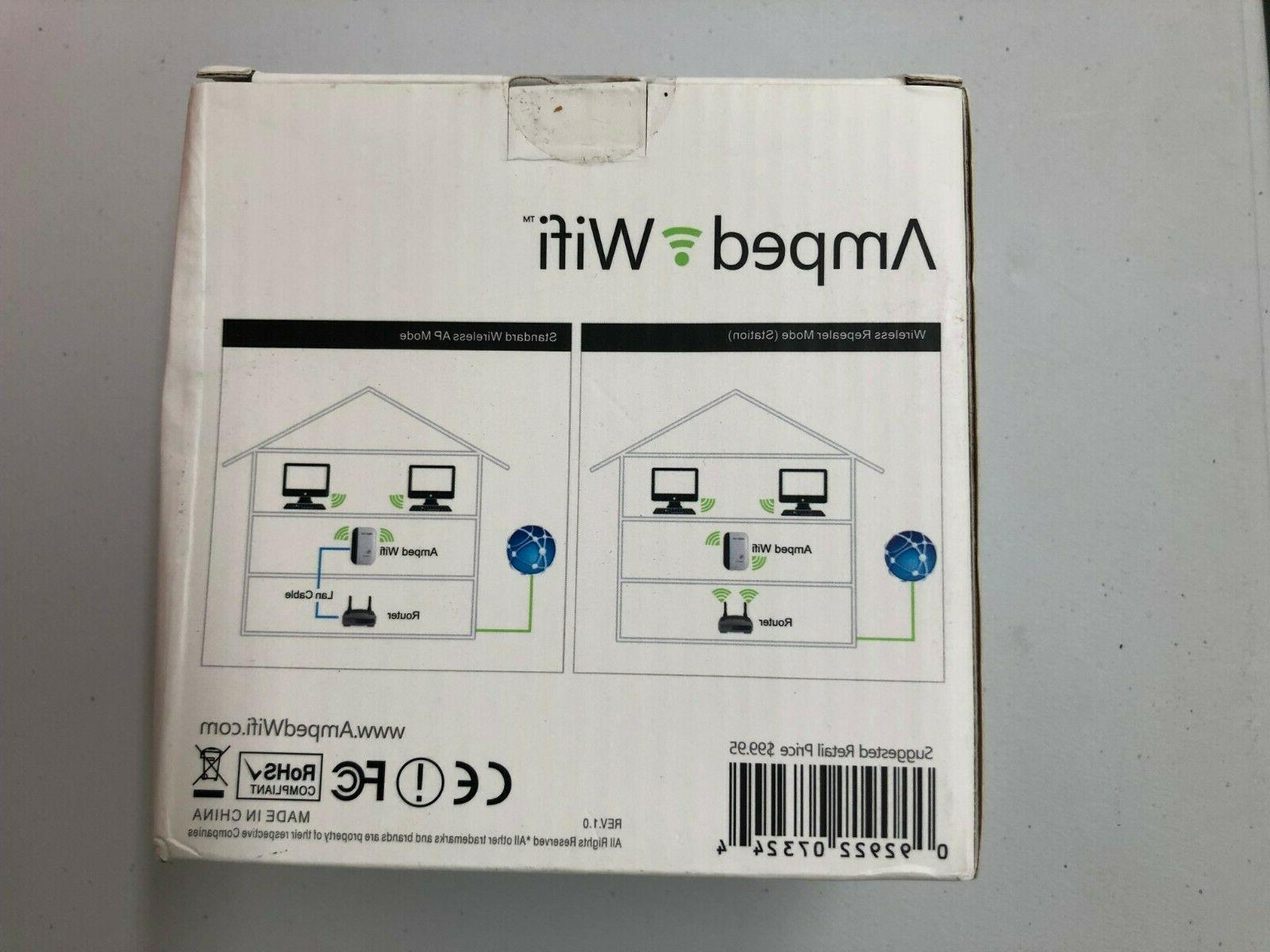 NEW Wireless Repeater Range Extender + Cable
