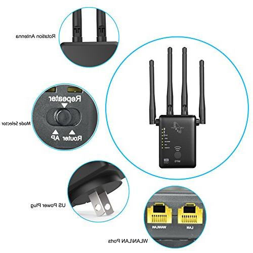VICTONY WiFi 1200Mbps WiFi with Antennas WiFi Extender for 2.4G
