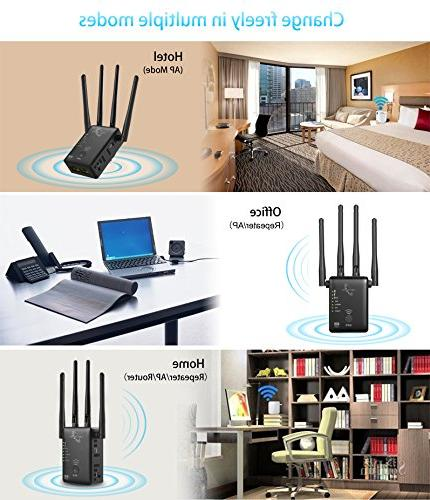 VICTONY WA1200 Wireless Extender WiFi Dual With External WiFi Signal Booster