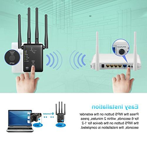 VICTONY WA1200 Wireless Extender 1200Mbps WiFi Dual External Antennas Booster