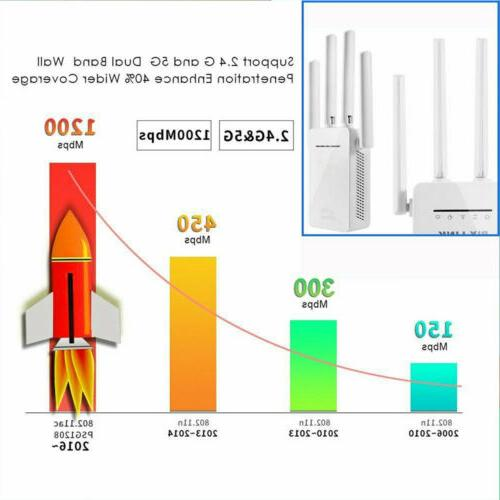 US WiFi Range Extender Internet Booster with 4