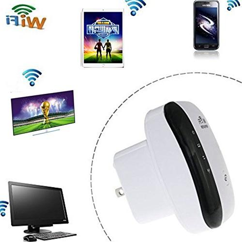 WiFi Range 300 Mbps Wireless Repeater Signal Range Booster Easy Setup Network Amplifier Access Point - 2.4GHz WPS New Chip