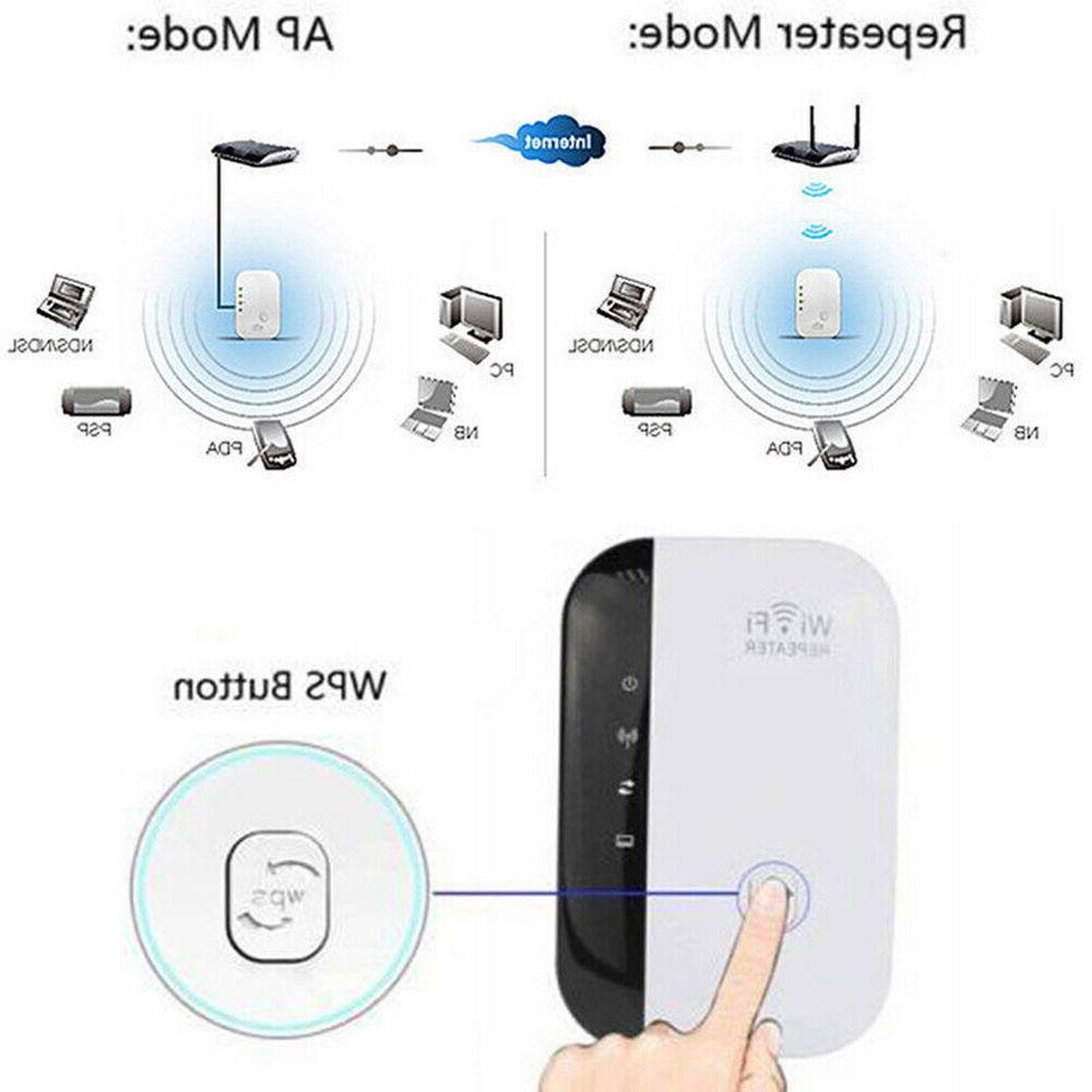 Wireless Wifi Extender Super Booster 300mbps Boost Speed