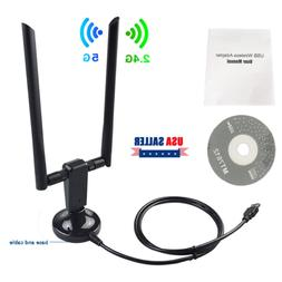 US 1200Mbps Dual Band 2.4/5G Wireless Range Extender WiFi Re