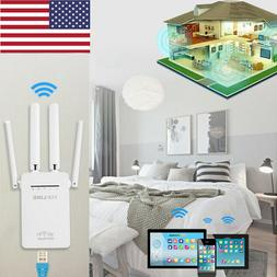 US WiFi Range Extender Internet Booster with 4 External Ante