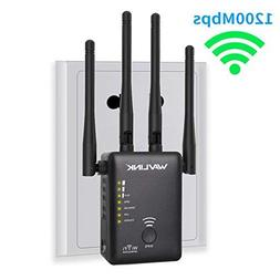 WiFi Range Extender, WAVLINK 1200Mbps Dual Band Mini Wireles