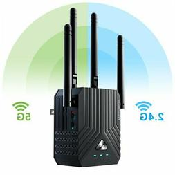 Coredy WiFi Range Extender, AC1200 Dual Band Mini WiFi Repea
