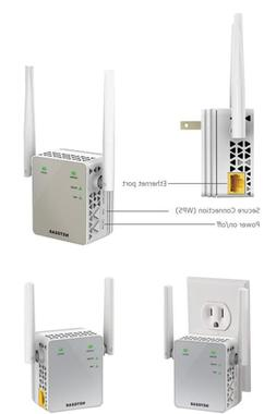 WiFi Range Extender NETGEAR AC750 Wall Plug Fast Connections