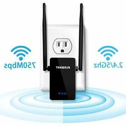 Wireless WiFi Range Extender 750Mbps Repeater Signal Amplifi